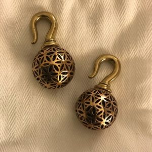 🍃 Copper & Brass Seed Of Life Ear Weights 🍃